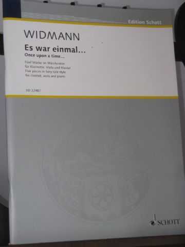 Widmann J - Es war einmal... (Once upon a time...) for Clarinet Viola & Piano